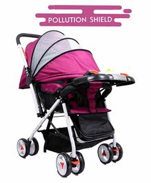 Little Olive Stroller with Adjustable Canopy and Musical Food Tray - Purple