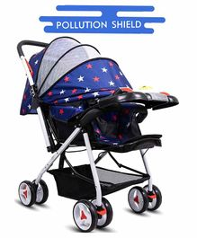 Little Olive Stroller with Adjustable Canopy and Musical Food Tray - Blue