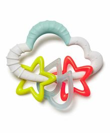 Skip Hop Silver Lining Cloud Starry Rattle Teether - Multicolour