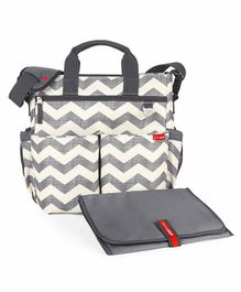 Skip Hop Duo Signature Diaper Bag with Changing Mat - Grey White