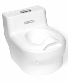 Skiphop Potty Seat with Removable Wipe Case - White