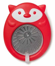 Skip Hop Fox Shape Silicone Teether with Stainless Steel Disc - Red