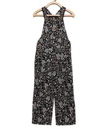 Cherry Crumble California Sleeveless Floral Jumpsuit - Black