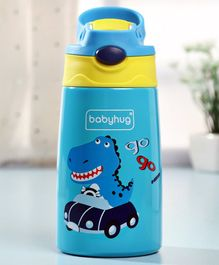 Babyhug Stainless Steel Insulated Sipper Bottle Blue - 350 ml