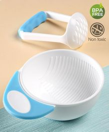 Babyhug Baby Food Grind Bowl - Blue