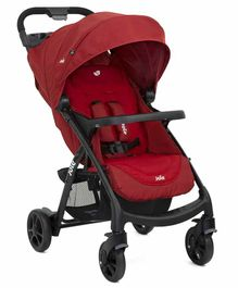 Joie Stroller with 5 Point Safety Harness and Storage Basket - Maroon