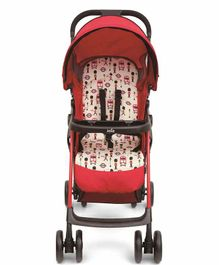Joie Stroller with 5 Point Safety Harness and Storage Basket - Red