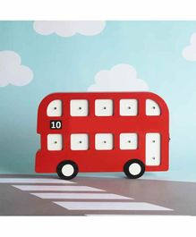 The Tiny Trove Big Bus Shaped Light Board - Red White