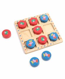 Shumee Peppa vs George Wooden Tic Tac Toe - Multicolor