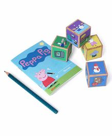 Shumee Peppa Pig Wooden Stacking Cubes Set - Multicolor