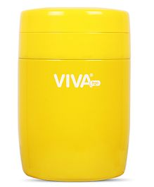 Viva h2o Double Wall Vacuum Insulated Stainless Steel Jar Yellow - 380 ml