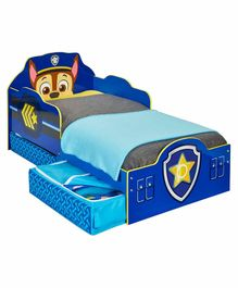 Worlds Apart Paw Patrol Kids Bed with Storage Compartment - Blue