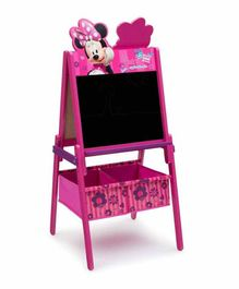Delta Children Minnie Mouse Easel with Storage Bins - Pink