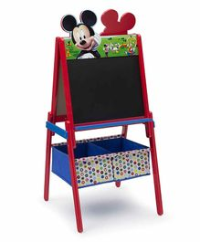 Delta Children Mickey Mouse Easel with Storage Bins - Multicolor