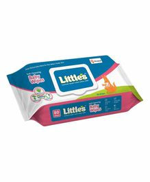 Little's Soft Cleansing Baby Wipes with Lid Pack - 80 Pieces