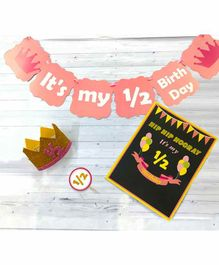 Untumble Half Birthday Decoration Kit Pink - Pack of 24