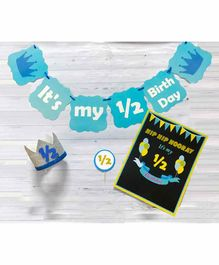 Untumble Half Birthday Decoration Kit Blue - Pack of 24