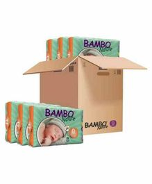 Bambo Nature Eco Friendly Tape Diapers with Wetness Indicator XXSmall Pack of 6 - 24 Pieces Each