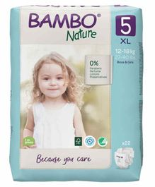 Bambo Nature Extra Large Size Tape Diapers with Wetness Indicator - 22 Pieces