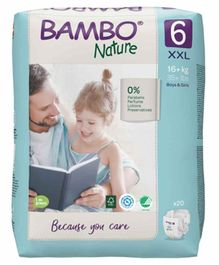 Bambo Nature XX Large Size Tape Diapers with Wetness Indicator - 20 Pieces