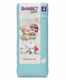 Bambo Nature Large Size Tape Diapers with Wetness Indicator - 48 Pieces