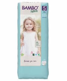 Bambo Nature Tape Diapers with Wetness Indicator Extra  Large Size - 44 Pieces
