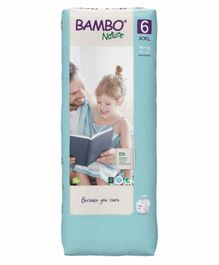 Bambo Nature Tape Diapers with Wetness Indicator XX Large Size - 40 Pieces