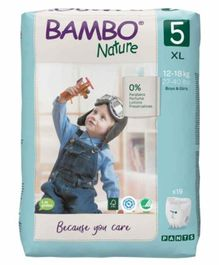 Bambo Nature Tape Diapers with Wetness Indicator Extra Large Size  - 19 Pieces