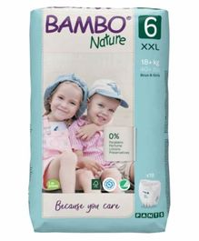 Bambo Nature Tape Diapers with Wetness Indicator XX Large Size - 18 Pieces
