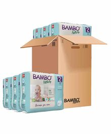 Bambo Nature Eco Friendly Tape Diapers with Wetness Indicator Small Size Pack of 6 - 180 Pieces