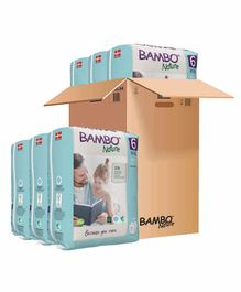 Bambo Nature Eco Friendly Tape Diapers with Wetness Indicator XXLarge Pack of 6 - 20 Pieces Each
