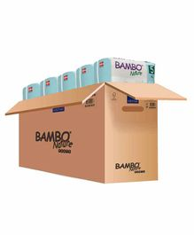Bambo Nature Eco Friendly Tape Diapers with Wetness Indicator Extra Large Pack of 5 - 19 Pieces Each