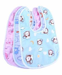 My NewBorn Waterproof Bibs Multicolor - Pack of 3