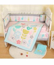 The Mother Store Cotton Crib Bedding Set Bird Patch - Multicolor
