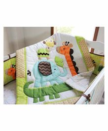 The Mom Store Cotton Baby Comforter Whale Patch - Multicolor