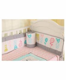 My Mom Store Baby Nightingale Bumper Set - Multicolor