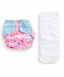 Polka Tots Reusable Cloth Diaper with Insert - Pink White