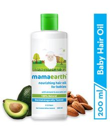 Mama Earth Nourishing Baby Hair Oil White - 200 ml