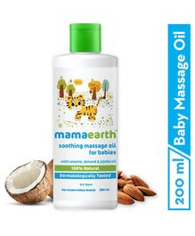 Mama Earth Soothing Baby Massage Oil White - 200 ml