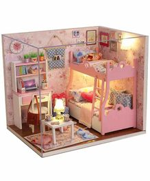 Webby Wooden DIY Kit Dollhouse Room with Cover - Multicolor
