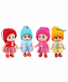 Webby Doll Key Chains Set of 4 - Multicolor