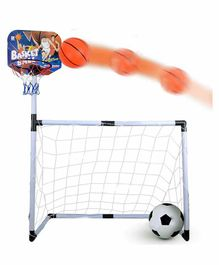 Webby 2 in 1 Football and Basketball Set - Multicolour