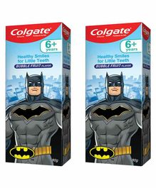 Colgate Batman Bubblefruit Flavoured Toothpaste Pack of 2 - 80 gm Each