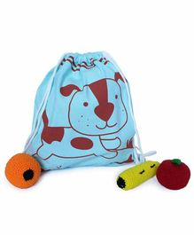 Shumee Treasure Trove Bag Dog Print - Blue