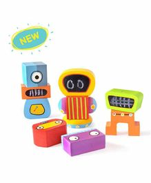 Shumee Magnetic Robo Blocks Multicolor - 12 Pieces