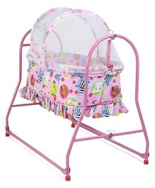 Mothertouch Italio Cradle Animal Print - Pink