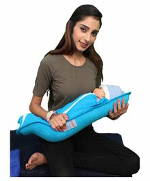 Hoopa Hooded Feeding Pillow - Blue