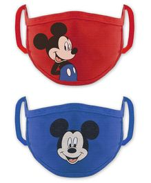Babyhug 4 to 8 Years Washable & Reusable Knit Face Mask Mickey Mouse - Pack of 2