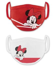 Babyhug 2 to 4 Years Washable & Reusable Knit Face Mask Minnie Mouse - Pack of 2