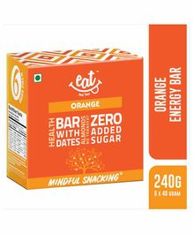 EAT Anytime Energy Bar Orange Flavour Pack of 6 - 240 gm